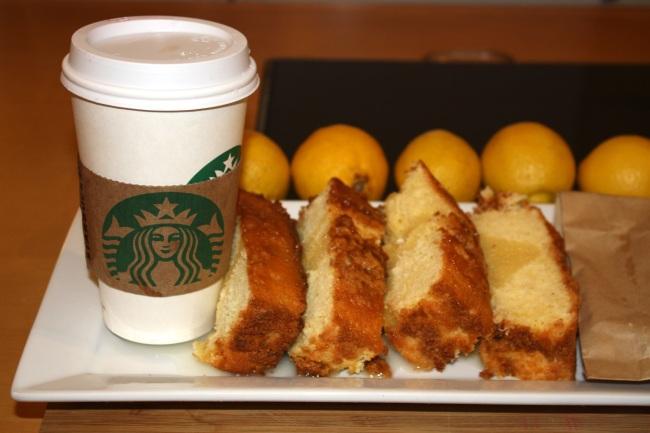 CaitlinCooks/Starbucks Lemon Poundcake