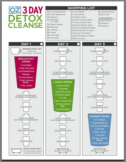 3 Day Detox Cleanse Meal Plan Dr Oz Caitlincooks